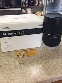 LIKE NEW SIGMA 24-35MM F2 DG LENS (NIKON)  Toronto, M1H 2A4