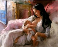 Mother and Child - Paint by Numbers Kit  3121 km