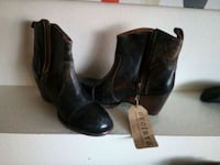 Leather fashion boots