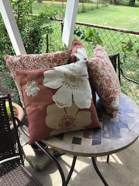 set of four red-white-and-brown floral throw pillows East Carondelet, 62240