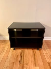 Black lightweight tv stand with wheels
