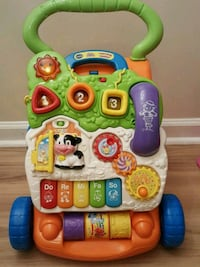 baby's green and white Vtech learning walker Newport News, 23608