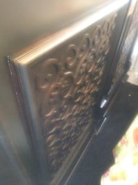 Brown head board and bed frame 802 mi