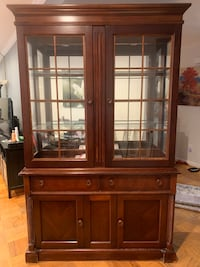brown wooden framed glass display cabinet Silver Spring, 20902