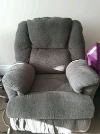 gray fabric recliner sofa chair Calgary, T2E 4H7