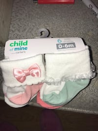 Brand new 0-6 months girls socks