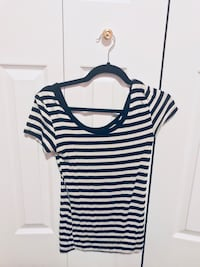 Women's black striped tee Lakeshore, N0R