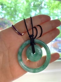 Vivid apple green spot jadeite (type A) Double peaceful round necklace Annandale, 22003