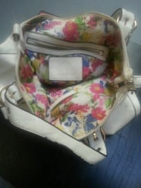 white, green, and red floral backpack Surrey, V3T 4C7