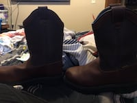 pair of brown leather boots Tulsa, 74126