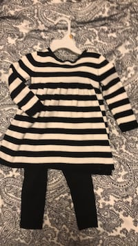 EUC sweater dress and leggings size 2t girls clothes Port Moody, V3H 3J8