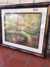 brown wooden framed painting of trees Laredo, 78046