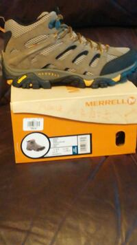 gray blue and yellow merrell hiking shoes Rosedale, 21237