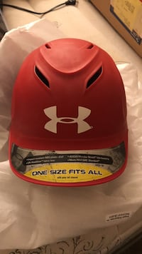 red and black Under Armour baseball cap Manchester, 63021