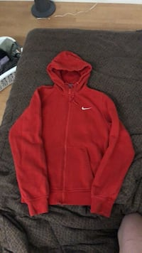 red nike zip up S