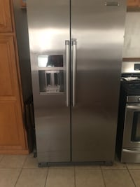 stainless steel side-by-side refrigerator with dispenser Garden City, 48135