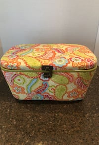Colorful Sewing Basket with Various Craft Supplies Manassas