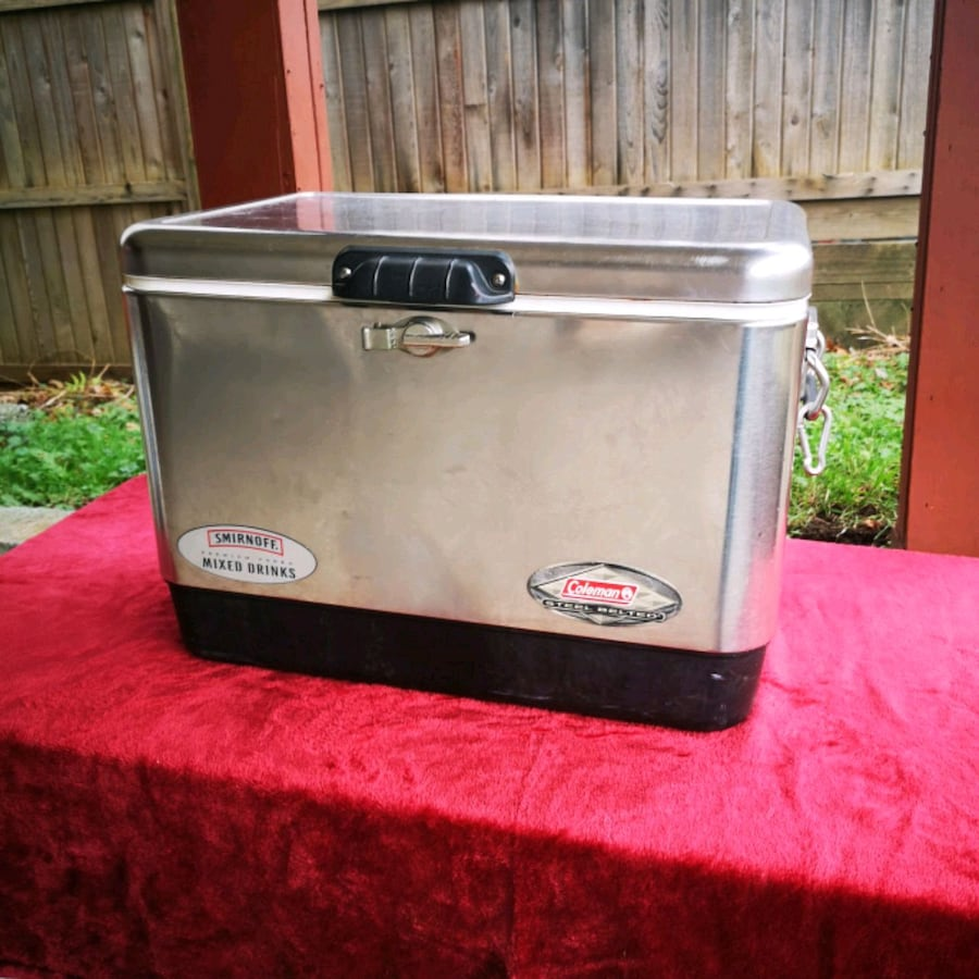 Smirnoff premium vodka mixed drink coleman steel belted cooler