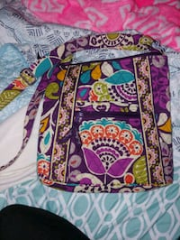 pink, blue, and green Vera Bradley crossbody bag Norfolk, 23505