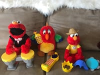 ALL BATTERY  Plush Toys $15 for all ( Squawky and Almo's)   Regina, S4S 1K1