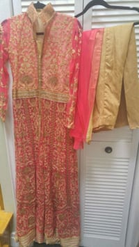 Indian gown style split skirt suit