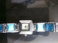 square silver-colored analog watch with link bracelet Merced, 95341