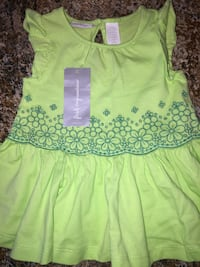REDUCED PRICE 3-6 green dress never worn