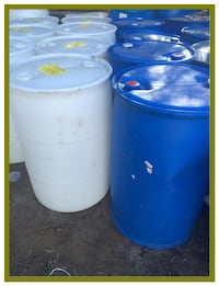 55 Gallon Plastic Food Grade Plastic Rain Barrels / Drums Escondido