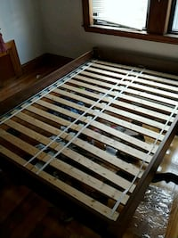 brown and white wooden bed frame Middlesex County, 02145