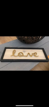"Rustic Themed ""LOVE"" Wood Sign Accent Wall Decor 16""L x 6""H x 1""D Richmond, V7E"