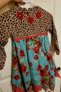 women's blue and red floral dress 1190 mi