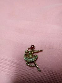 ballerina copper and silver pin with ruby  Birmingham, 35212