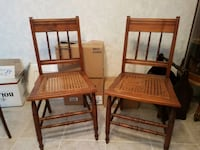 Two wooden retro chairs  Mississauga, L5E 2M6
