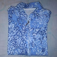 Ladies blue and white butterfly/floral zip-up London, N6H 1M9