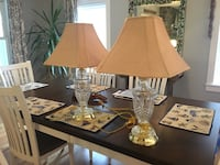 Pair of Etched glass lamps Manahawkin, 08050
