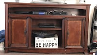 Brown wooden tv console