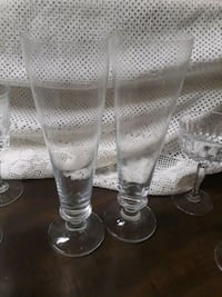 two clear glass candle holders Grimes, 50111