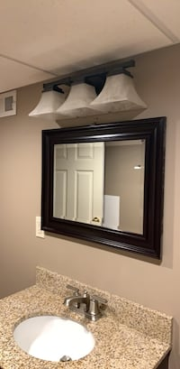 Light fixture and mirror