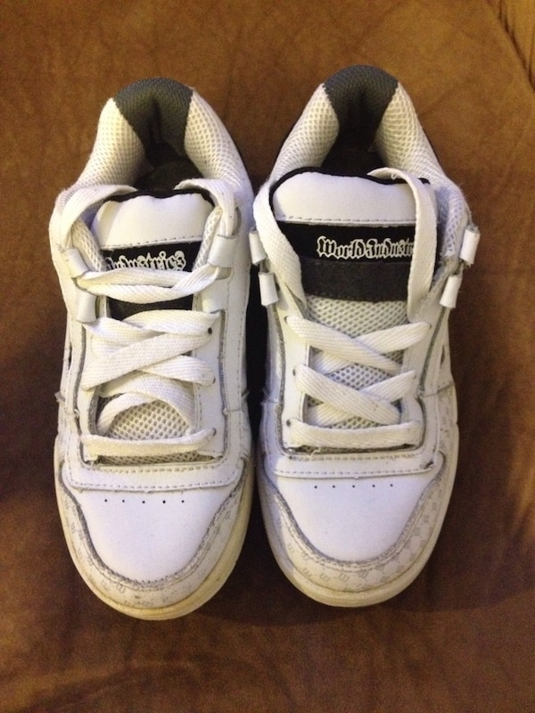 d48d8c572ef62a Used world industries white and black sneakers for sale in Ogden - letgo