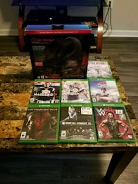 Xbox One ganes and headset