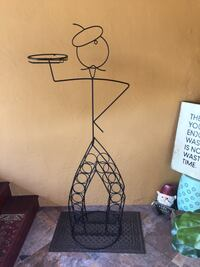 Wine rack, wire French waiter! 14 bottles it will hold.4foot tall . Asking $45.00 Tullytown, 19007