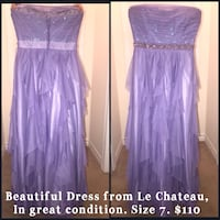 women's purple spaghetti strap dress Ajax, L1Z 0G9