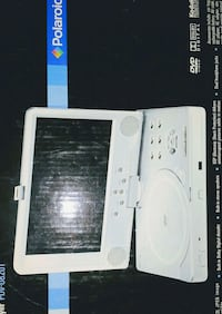 white Polaroid portable DVD player box