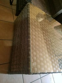 Patio chair glass table