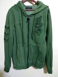 Men's Army Green Hoodie Zip Up Jacket Size XL Charlotte, 28273