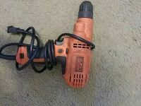orange and black Black & Decker corded power drill Leicester, 28748