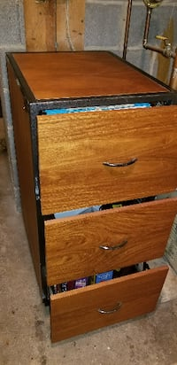 THREE DRAWER WOODEN FILE CABINET FROM ZIMBABWE ALEXANDRIA