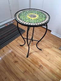 Sunflower mosaic side table