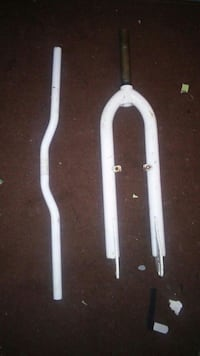 two white bicycle handle and fork Hatfield, AL10 8XX