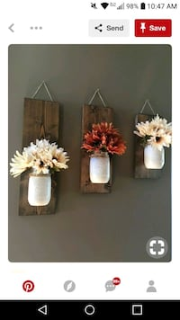 three white and red daisies and white mason jars wall decors screenshot Bluff City, 37618